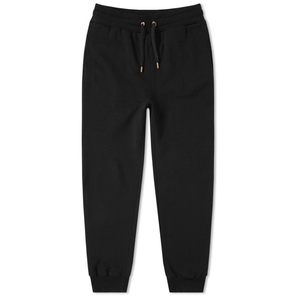 ヴェルサーチ Versace メンズ スウェット・ジャージ メデューサ ボトムス・パンツ【medusa embroidered motif sweat pant】Black
