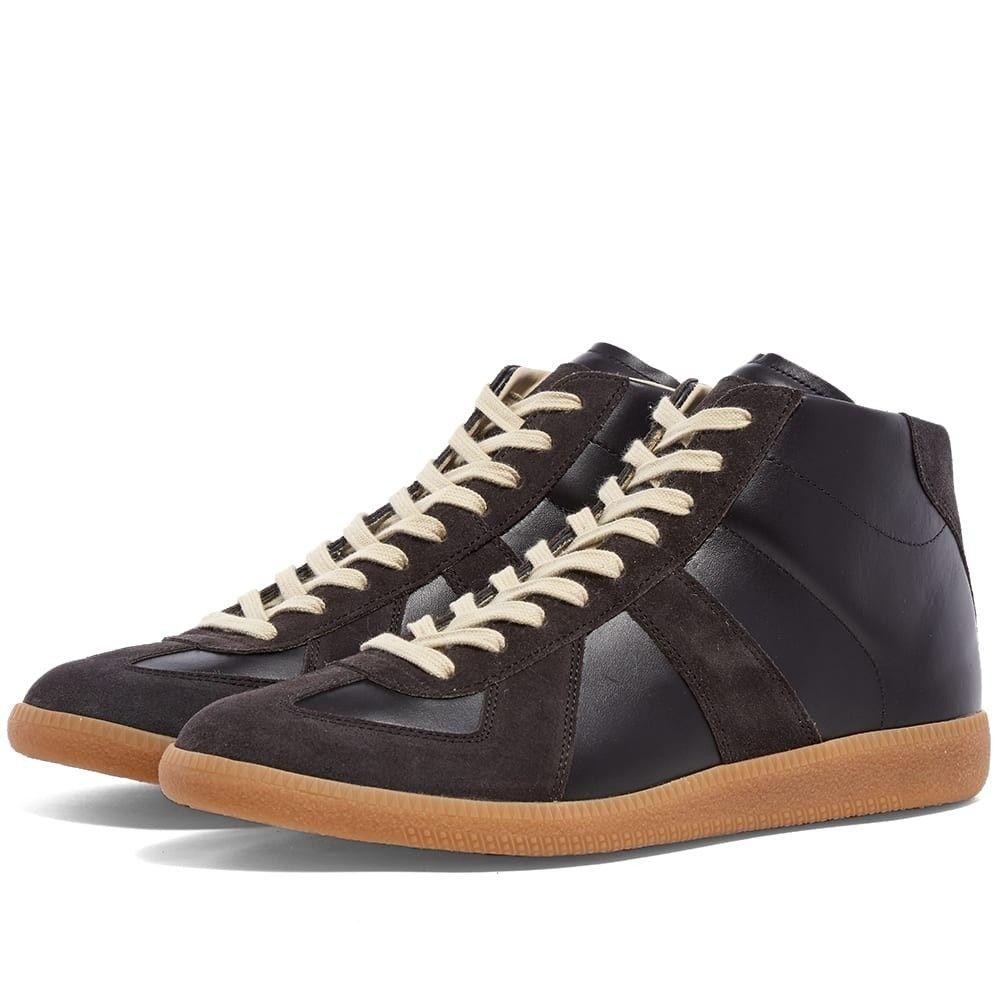 メゾン マルジェラ Maison Margiela メンズ スニーカー ハイカット シューズ・靴【22 classic replica high sneaker】Black