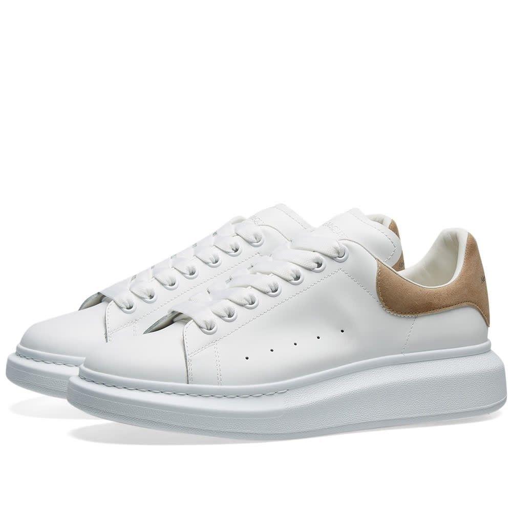 アレキサンダー マックイーン Alexander McQueen メンズ スニーカー ウェッジソール シューズ・靴【suede heel tab wedge sole sneaker】White/Beige