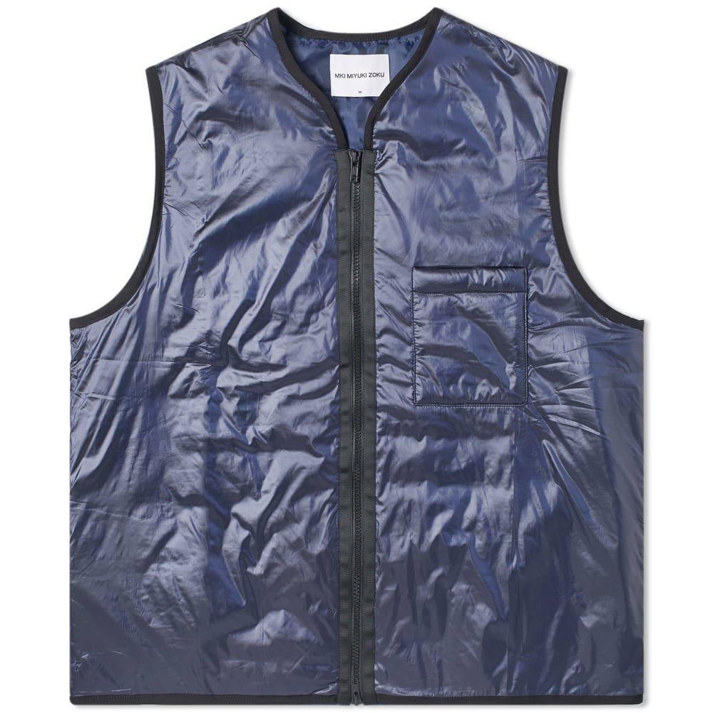 エムケーアイ MKI メンズ ベスト・ジレ トップス【padded nylon vest】Navy