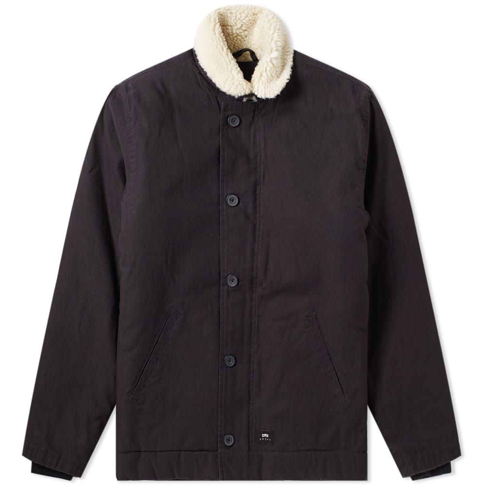 エドウィン Edwin メンズ ジャケット アウター【deck jacket】Black Enzyme Wash