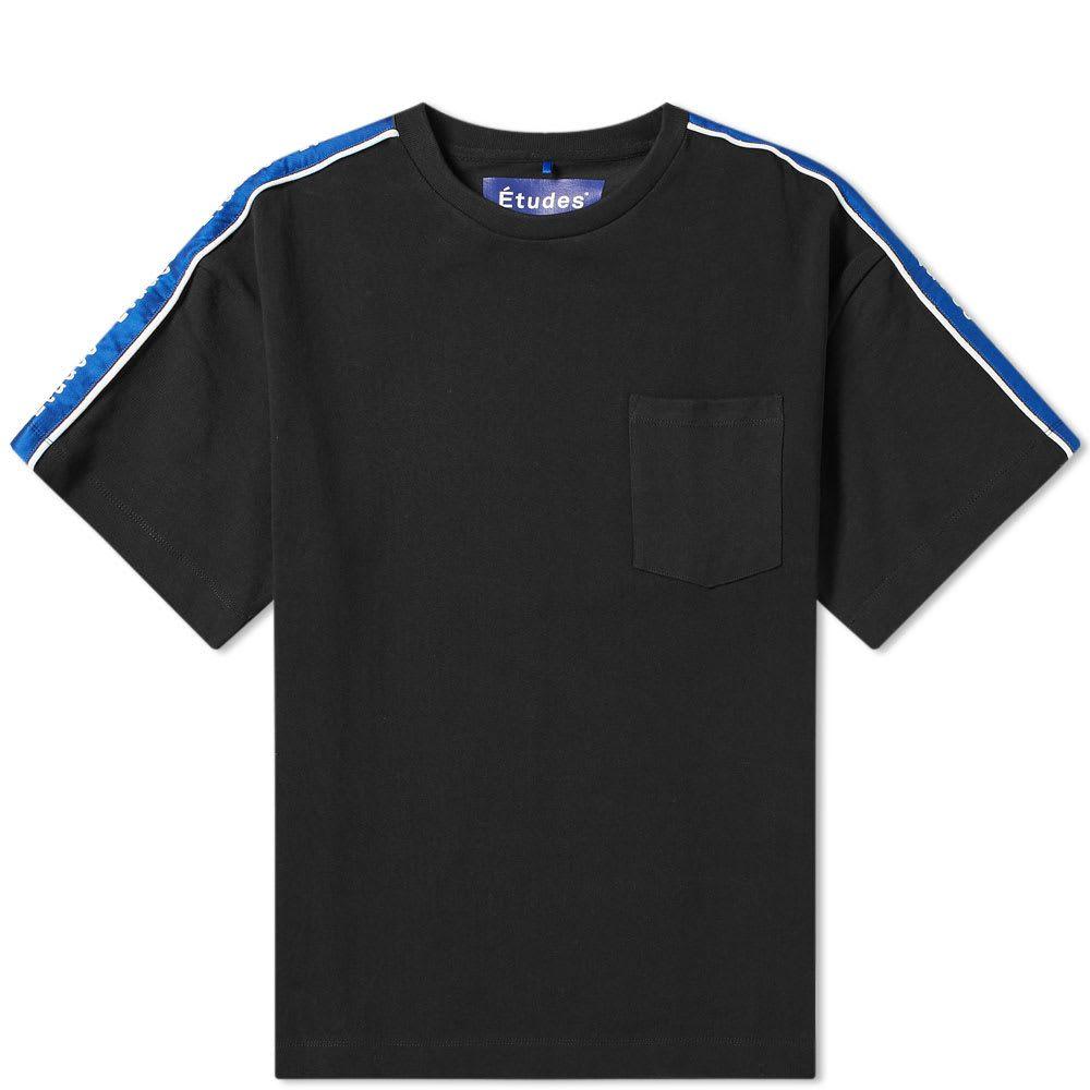 エチュード Etudes メンズ Tシャツ トップス【tape heavyweight tee】Black