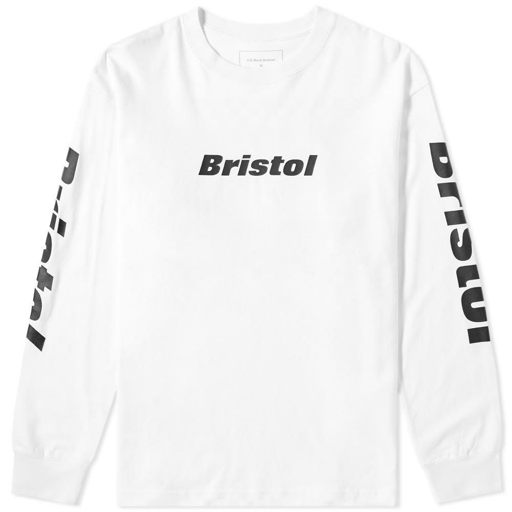 エフシーレアルブリストル F.C. Real Bristol メンズ 長袖Tシャツ トップス【long sleeve checker flame tee】White