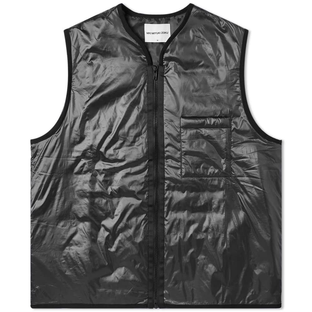 エムケーアイ MKI メンズ ベスト・ジレ トップス【padded nylon vest】Black