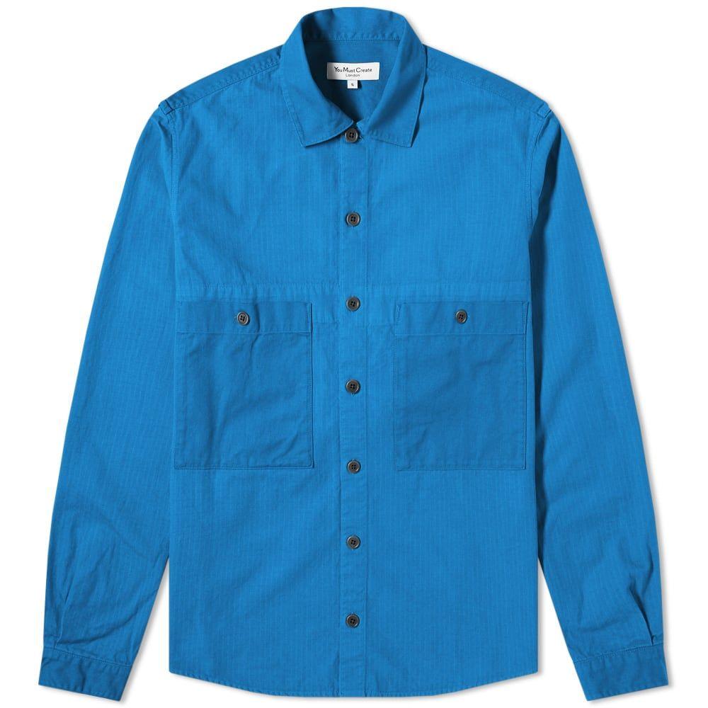 ワイエムシー YMC メンズ ジャケット オーバーシャツ アウター【doc savage twill overshirt】Blue