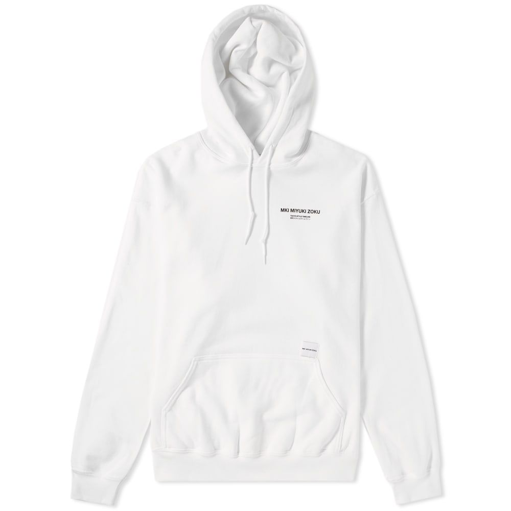 エムケーアイ MKI メンズ パーカー トップス【list print hoody】White