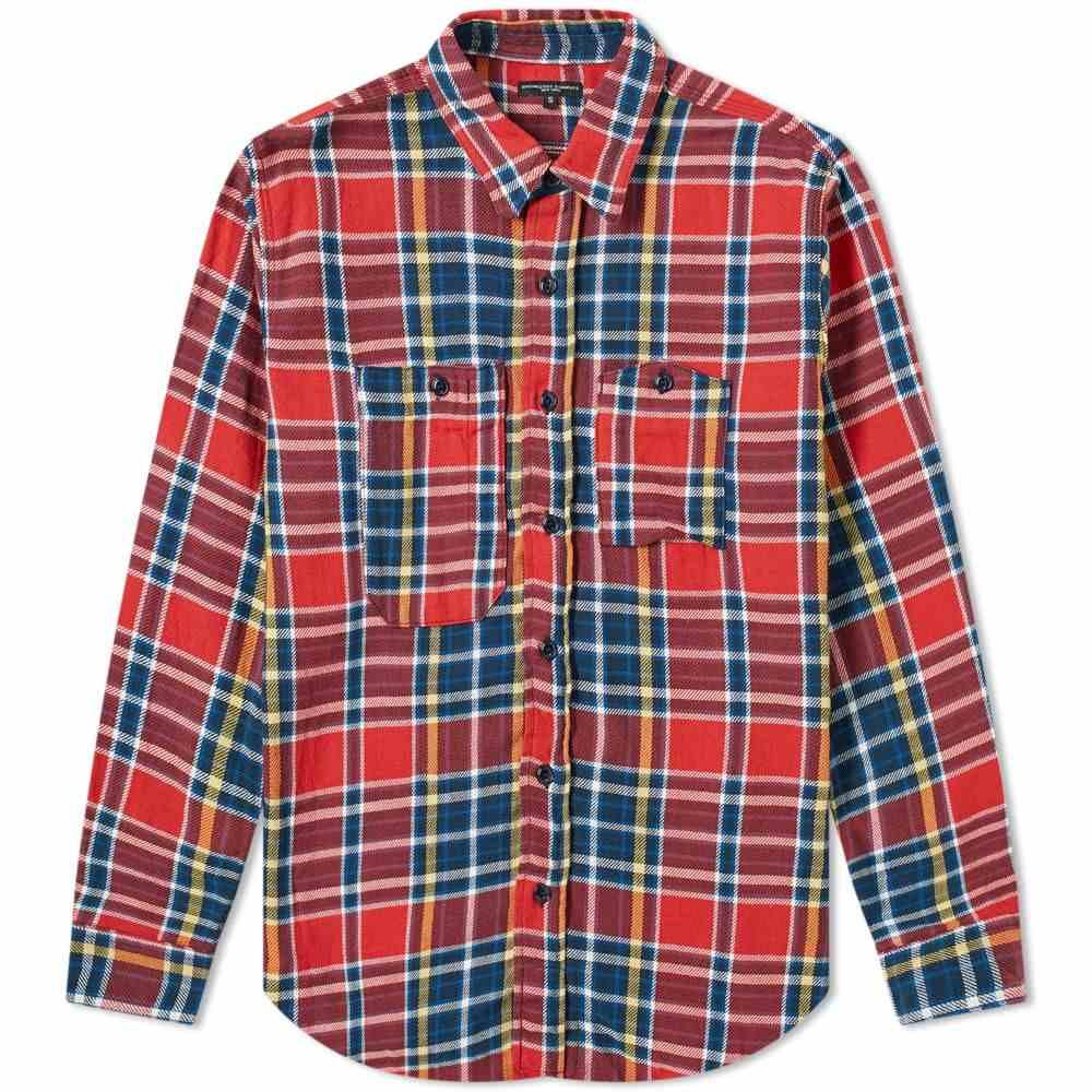 エンジニアードガーメンツ Engineered Garments メンズ シャツ トップス【work shirt】Red/Navy