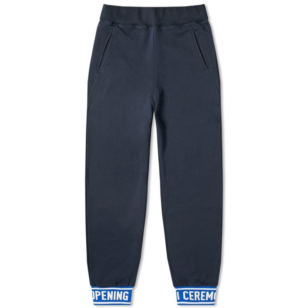 オープニングセレモニー Opening Ceremony メンズ スウェット・ジャージ ボトムス・パンツ【elastic logo sweat pant】Collegiate Navy