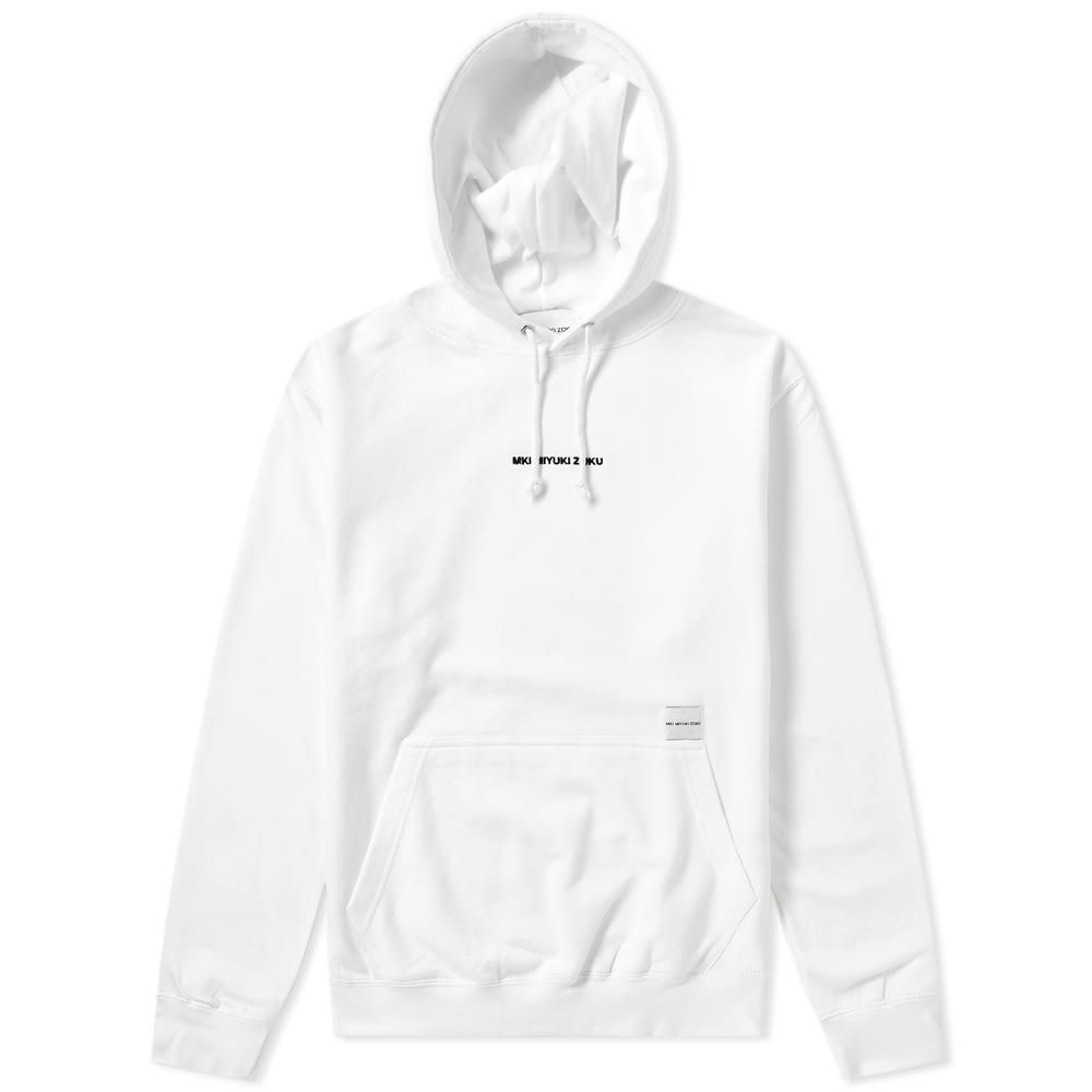 エムケーアイ MKI メンズ パーカー トップス【embroidered logo hoody】White