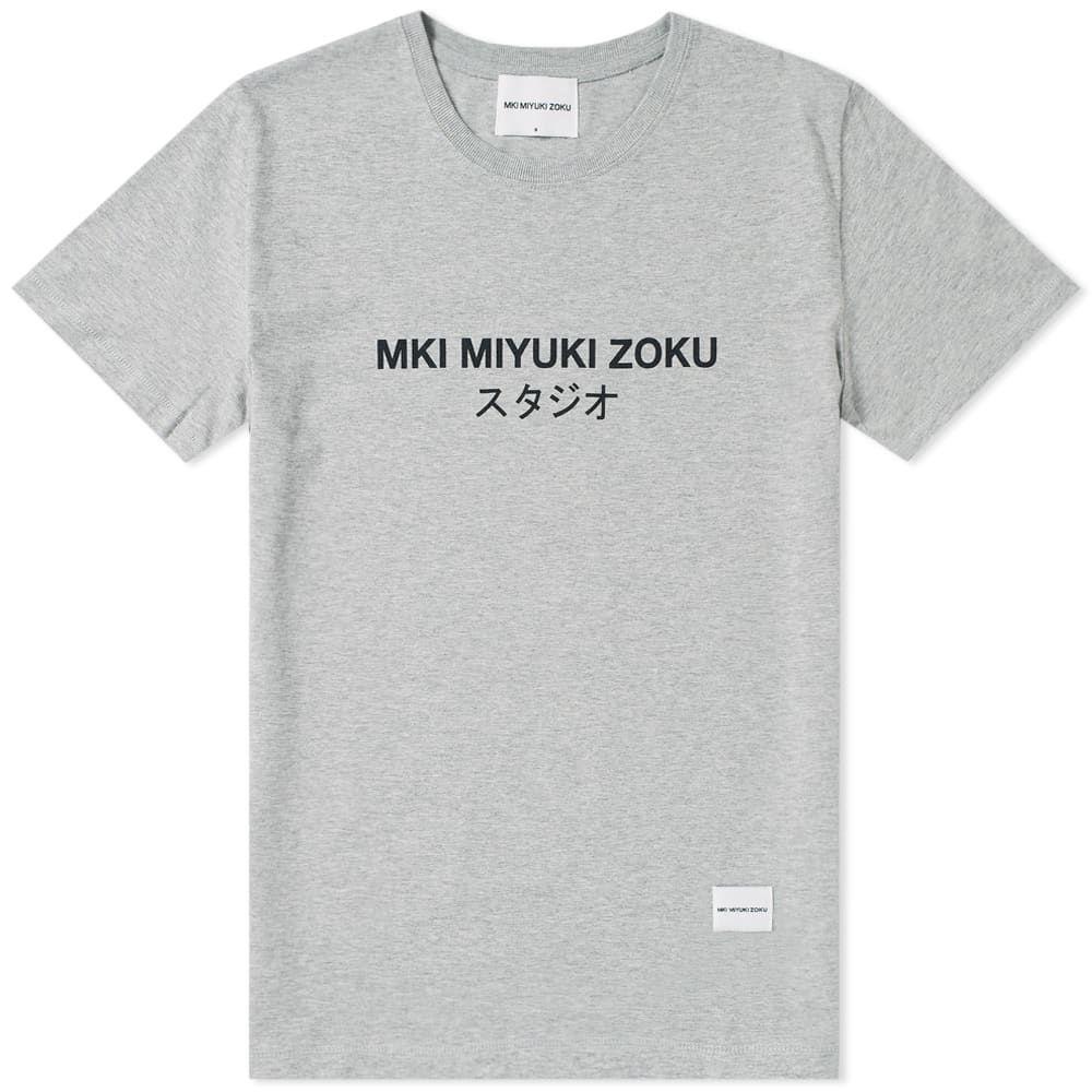 エムケーアイ MKI メンズ Tシャツ ロゴTシャツ トップス【classic logo tee】Grey