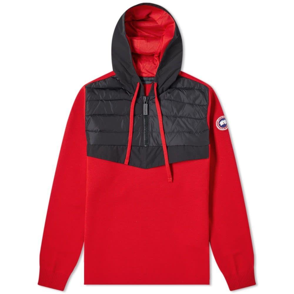 カナダグース Canada Goose メンズ ジャケット アノラック アウター【hybridge knit anorak】Red
