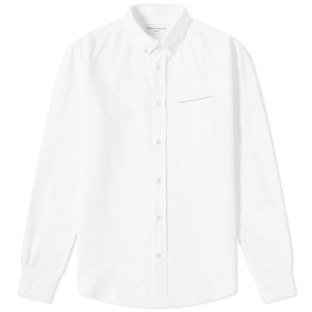 オフィシン ジェネラーレ Officine Generale メンズ トップス シャツ【Button Down Japanese Selvedge Oxford Shirt】White