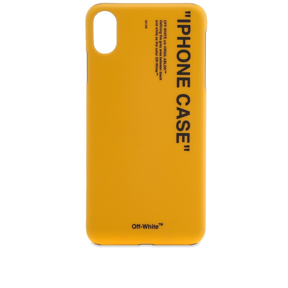 オフ-ホワイト Off-White メンズ iPhone (X)ケース 【quote iphone x case】Yellow