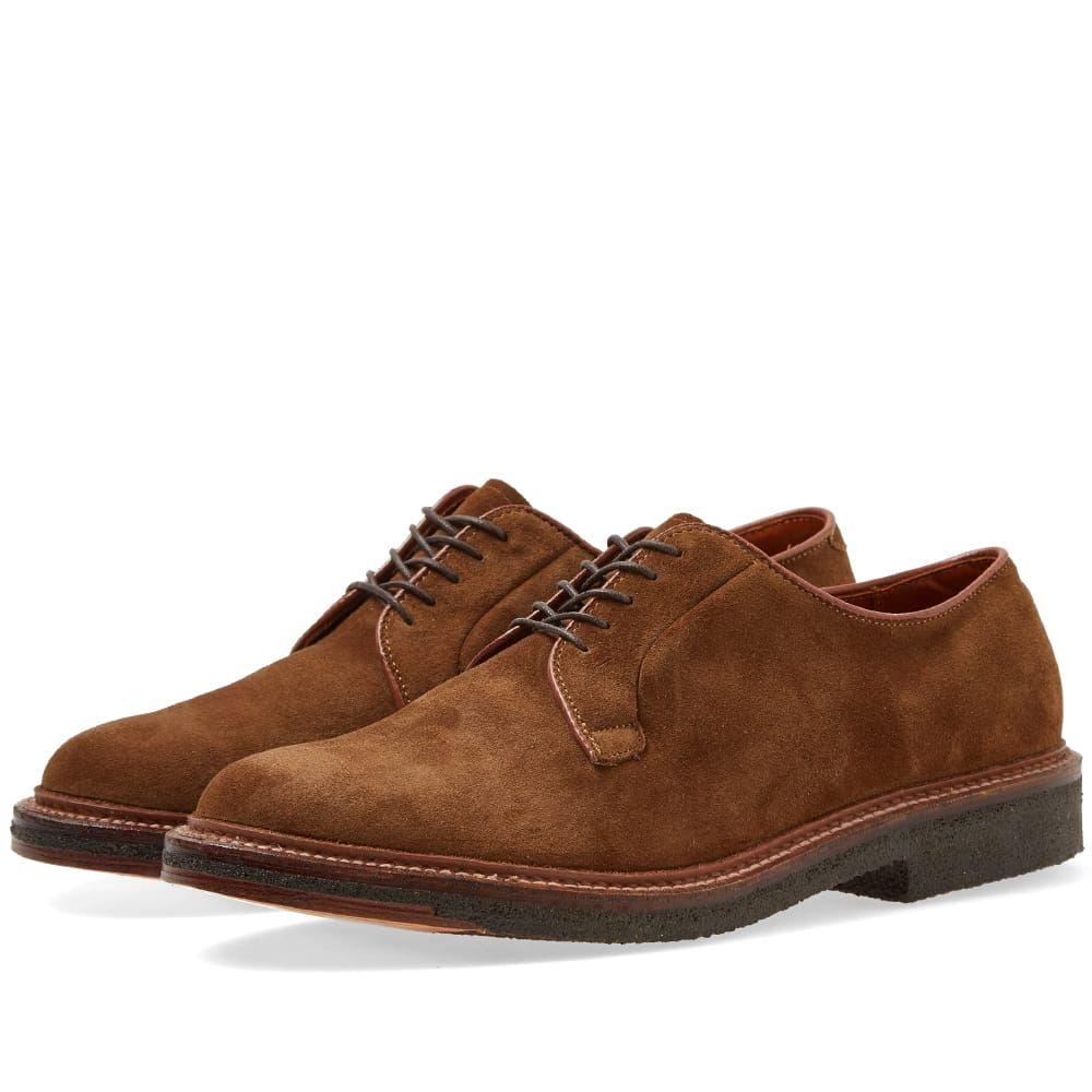 オールデン Alden Shoe Company メンズ シューズ・靴 革靴・ビジネスシューズ【Alden Crepe Sole Plain Toe Blucher】Snuff Suede