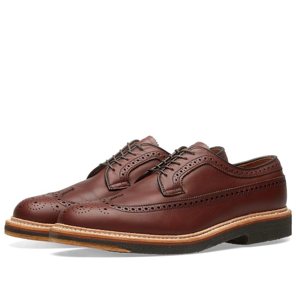 オールデン Alden Shoe Company メンズ シューズ・靴 革靴・ビジネスシューズ【Alden Long Wing Blucher】Classic Brown