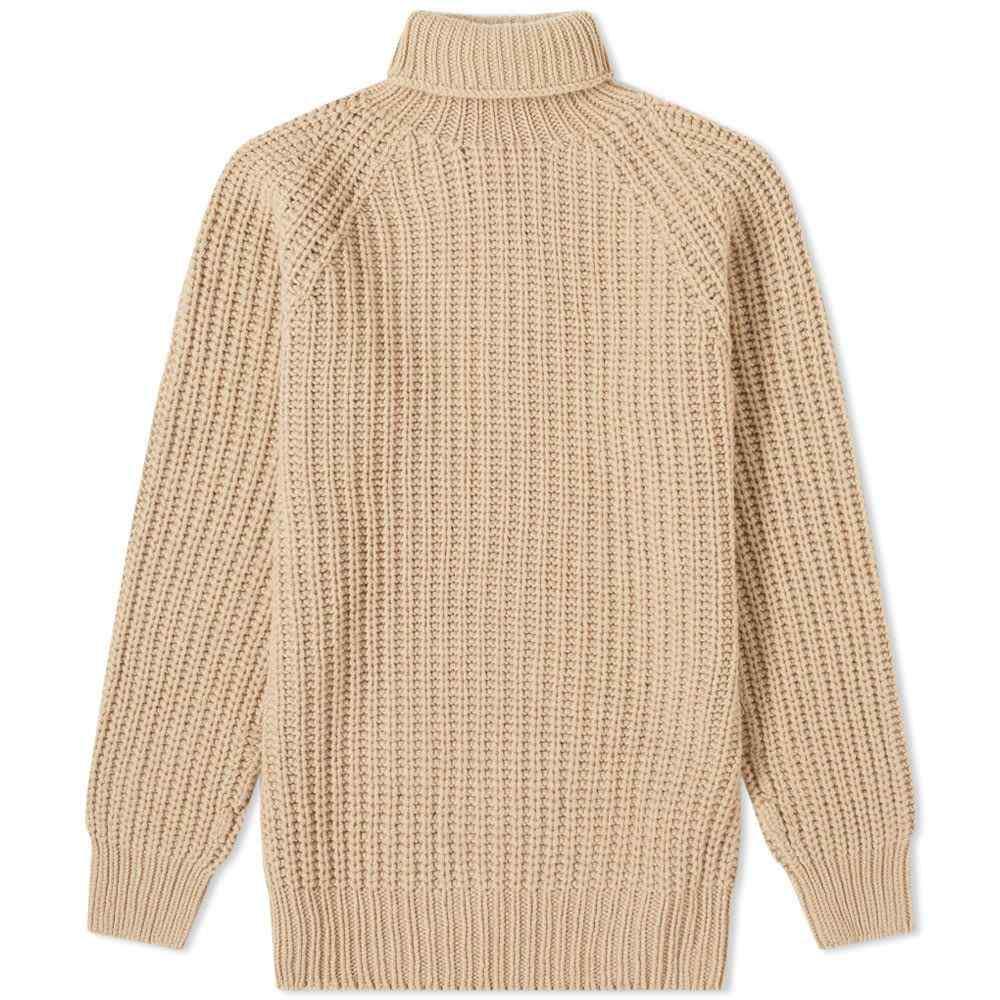 オフィシン ジェネラーレ Officine Generale メンズ トップス カーディガン【Cardigan Stitch Turtle Neck Knit】Camel