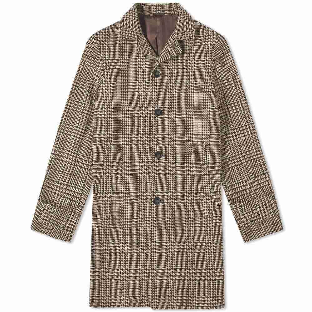 オフィシン ジェネラーレ Officine Generale メンズ アウター コート【Stephane Check Coat】Camel/Brown