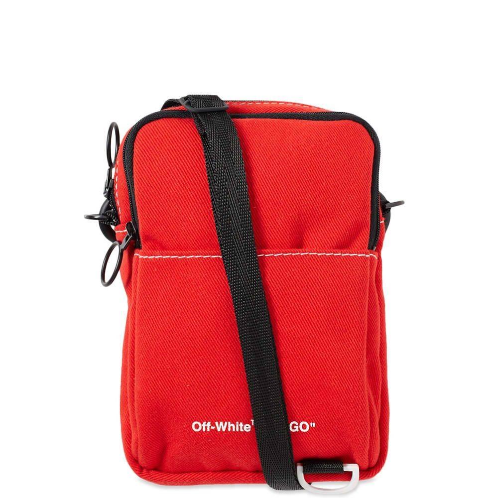 オフ-ホワイト Off-White メンズ ボディバッグ・ウエストポーチ バッグ【denim hip bag】Red