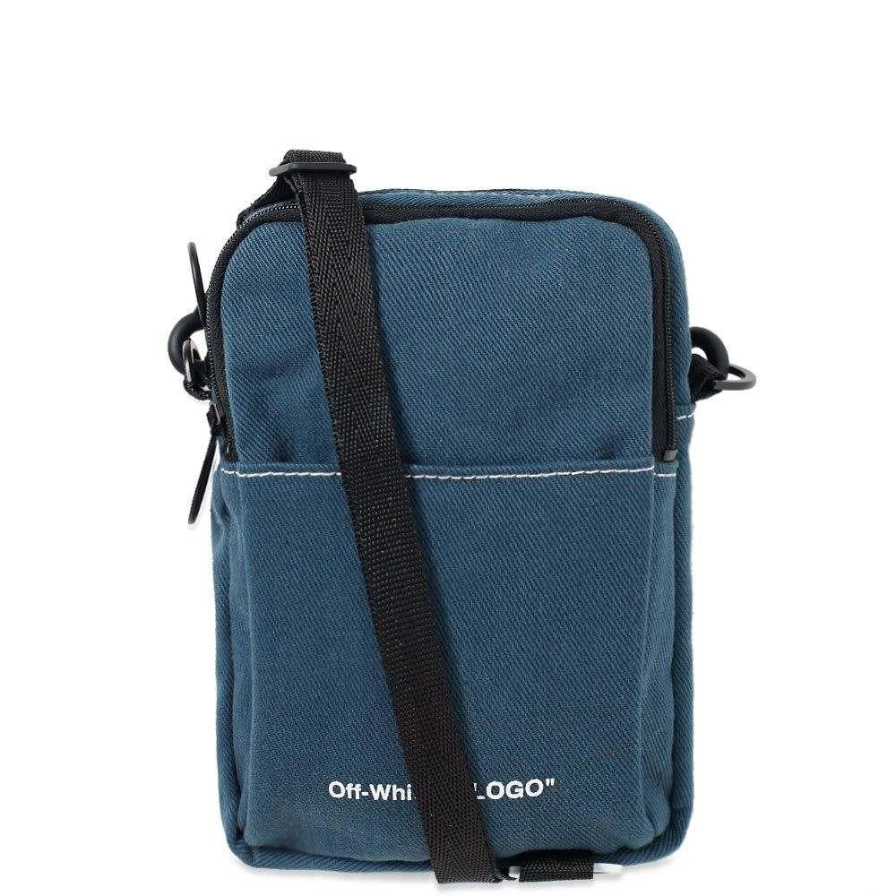 オフ-ホワイト Off-White メンズ ボディバッグ・ウエストポーチ バッグ【denim hip bag】Medium Blue Wash