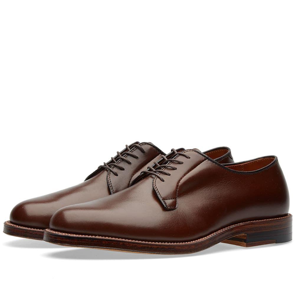 オールデン Alden Shoe Company メンズ シューズ・靴 革靴・ビジネスシューズ【Alden Plain Toe Blucher】Dark Brown Eclipse