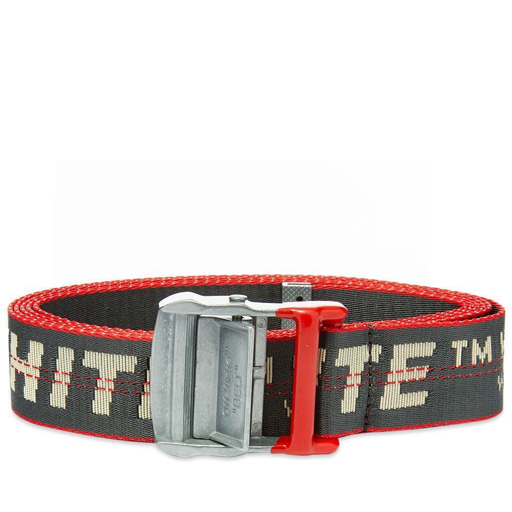 オフ-ホワイト Off-White メンズ ベルト 【industrial belt】Anthracite