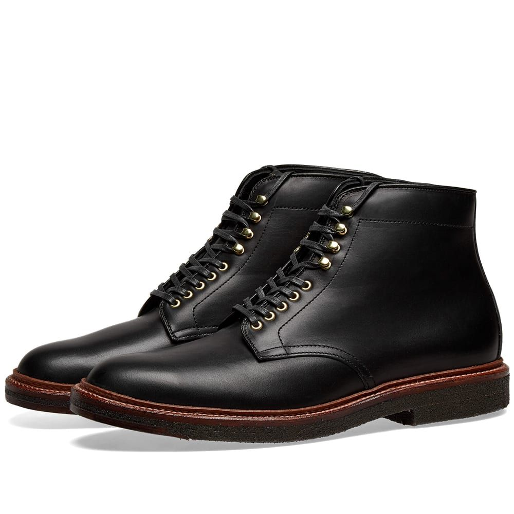 オールデン Alden Shoe Company メンズ シューズ・靴 ブーツ【Alden Round Toe Boot】Black Calf