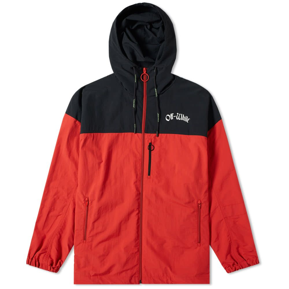 オフ-ホワイト Off-White メンズ ジャケット ウィンドブレーカー アウター【windbreaker jacket】Red