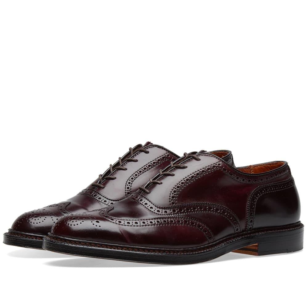 オールデン Alden Shoe Company メンズ シューズ・靴 革靴・ビジネスシューズ【Alden Wing Tip Bal Oxford】Dark Burgundy Cordovan