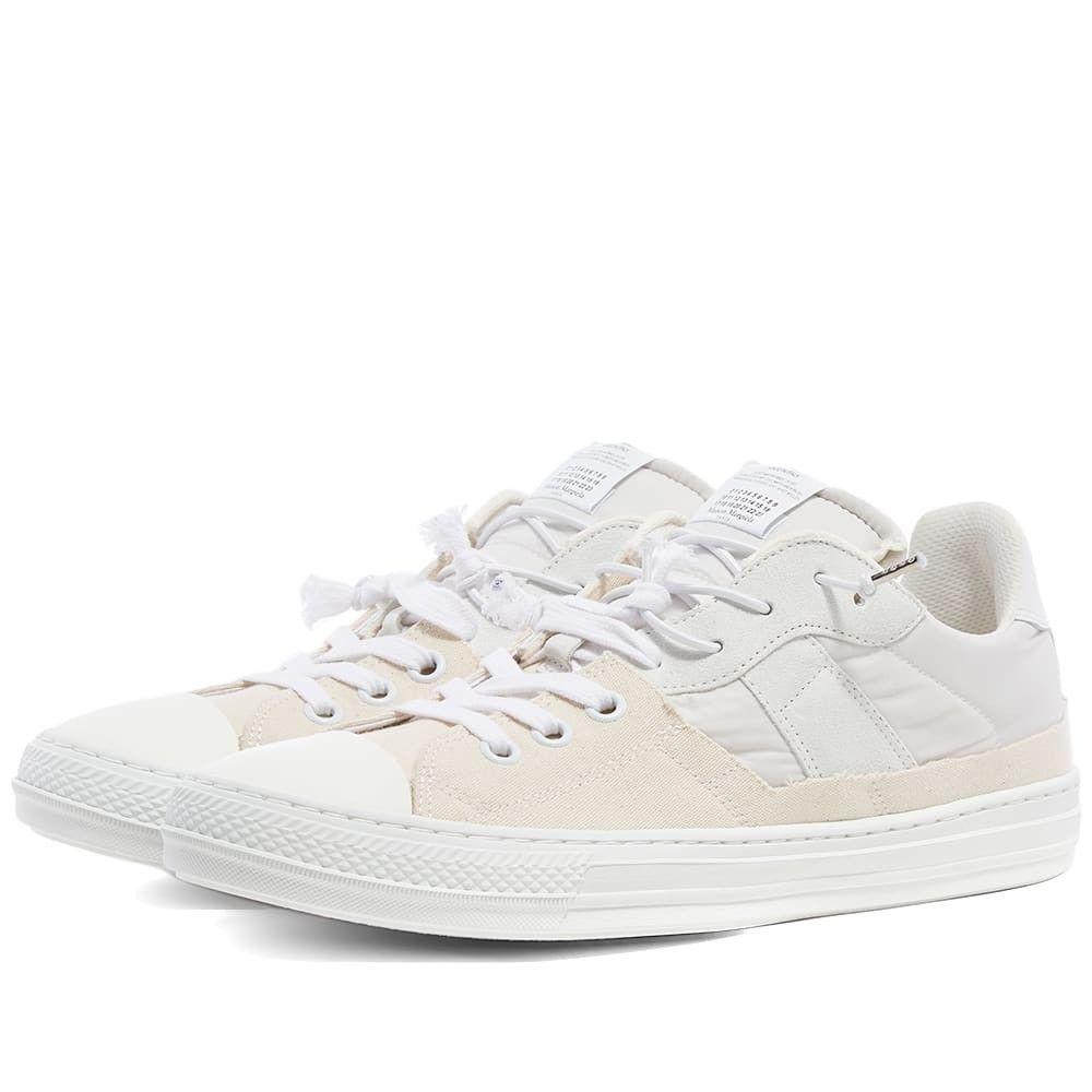 メゾン マルジェラ Maison Margiela メンズ スニーカー ローカット シューズ・靴【22 2-in-1 low sneaker】White Mix