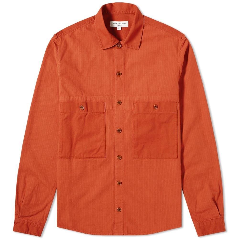 ワイエムシー YMC メンズ ジャケット オーバーシャツ アウター【doc savage twill overshirt】Rust