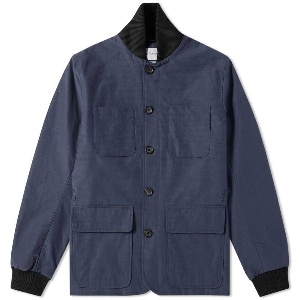 オリバー スペンサー Oliver Spencer メンズ ジャケット アウター【berwick jacket】Rainier Navy