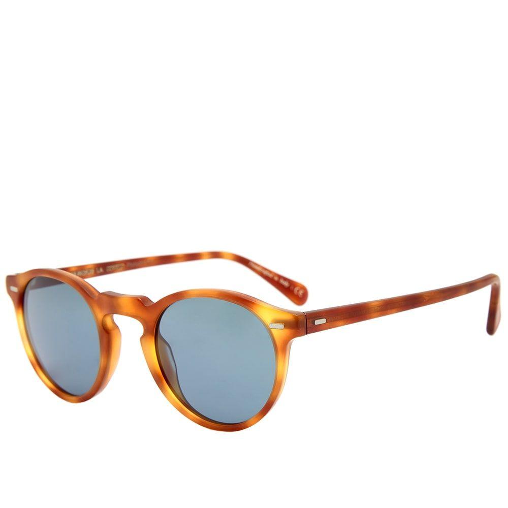 オリバーピープルズ Oliver Peoples メンズ メガネ・サングラス 【gregory peck sunglasses】Semi-Matte LBR/Indigo