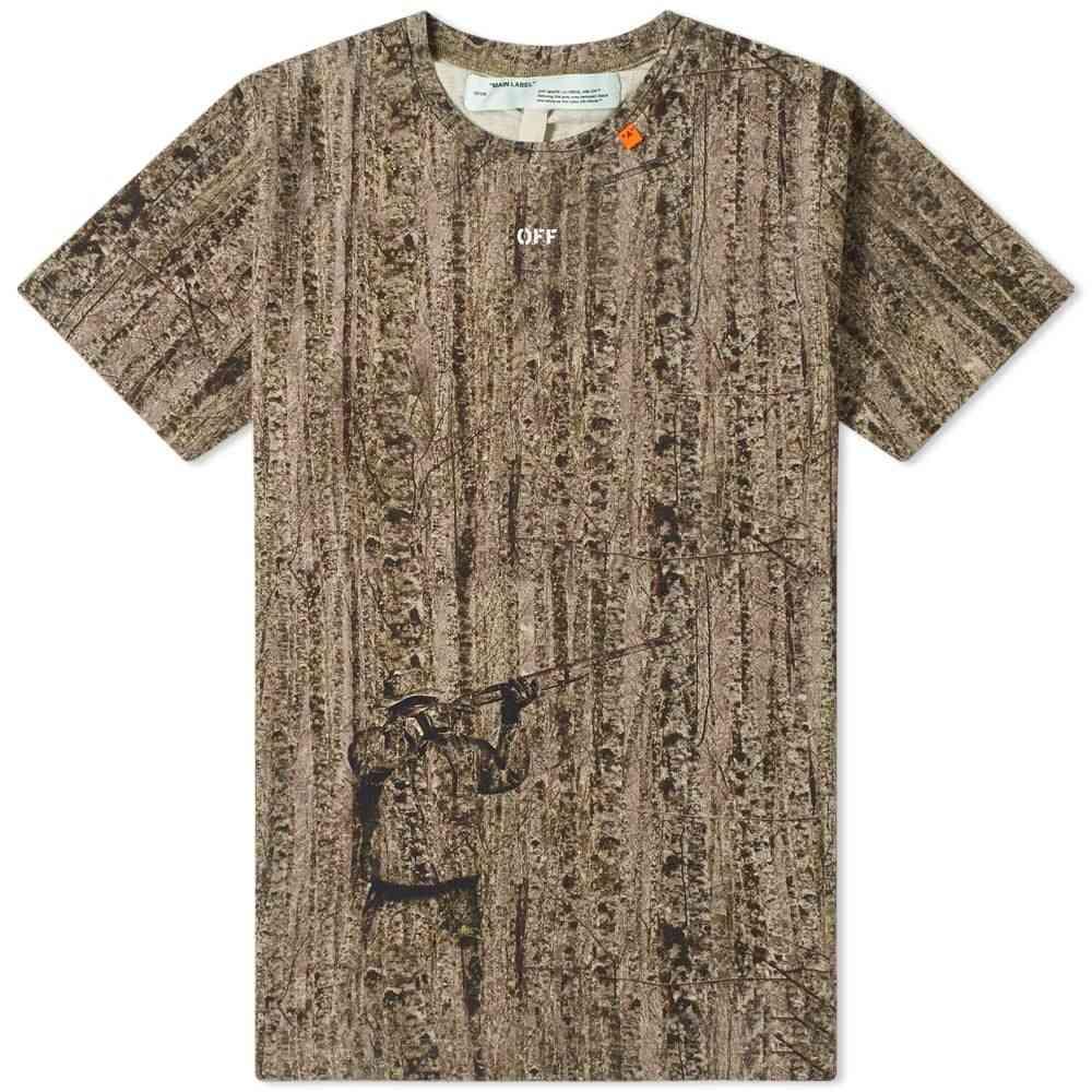 オフ-ホワイト Off-White メンズ Tシャツ トップス【real camo diagonals slim tee】Camo