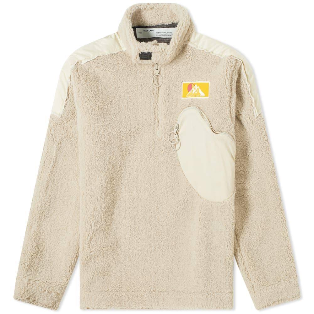 オフ-ホワイト Off-White メンズ フリース トップス【moto pullover fleece】Beige