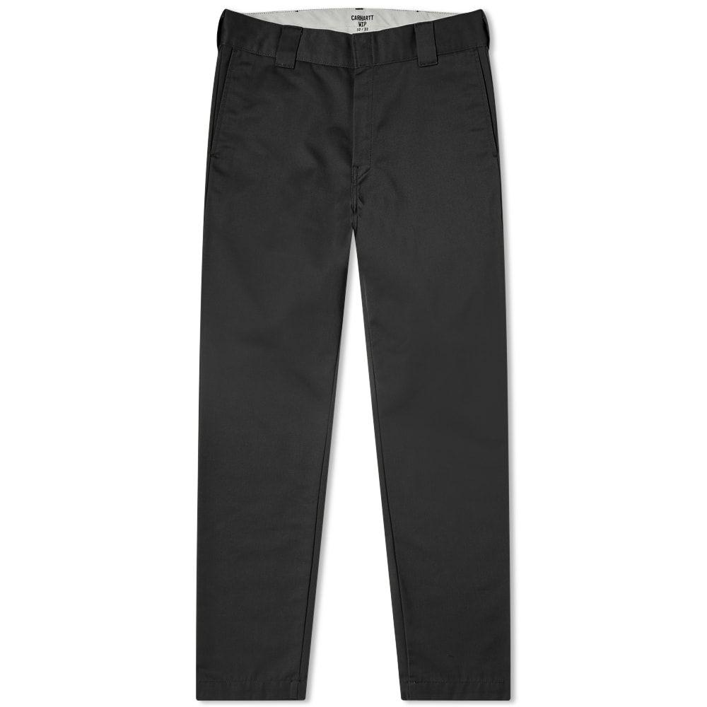 カーハート Carhartt WIP メンズ チノパン ボトムス・パンツ【carhartt master pant】Black Rinsed