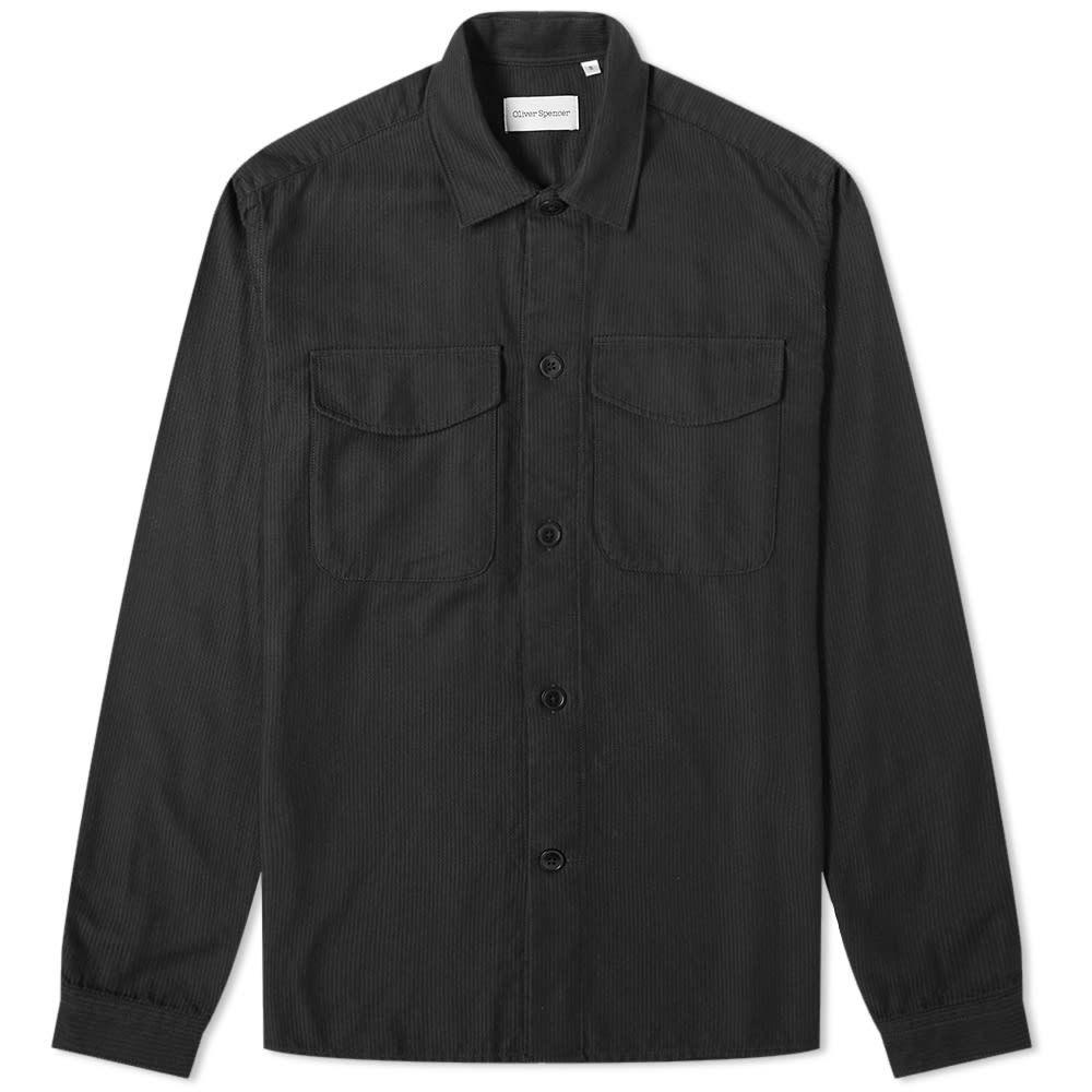 オリバー スペンサー Oliver Spencer メンズ シャツ トップス【eltham shirt】Black