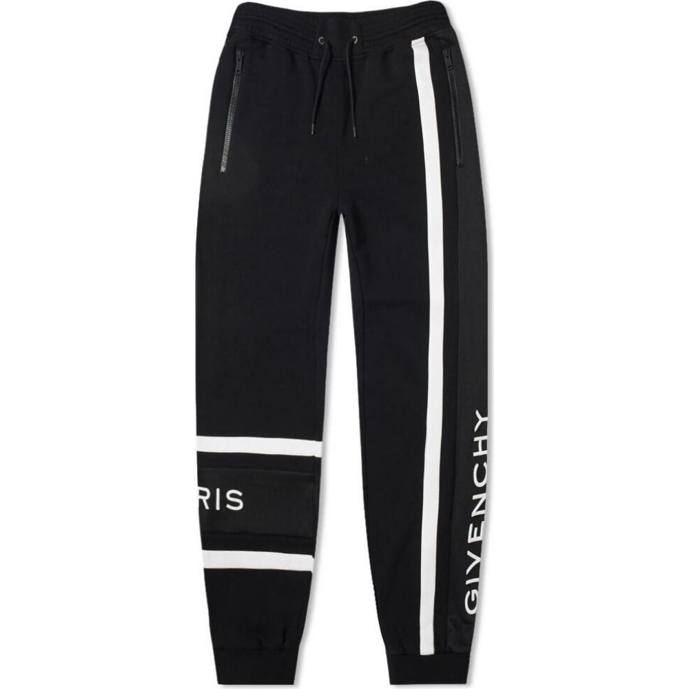 ジバンシー Givenchy メンズ スウェット・ジャージ ボトムス・パンツ【Band Logo Sweat Pant】Black/White