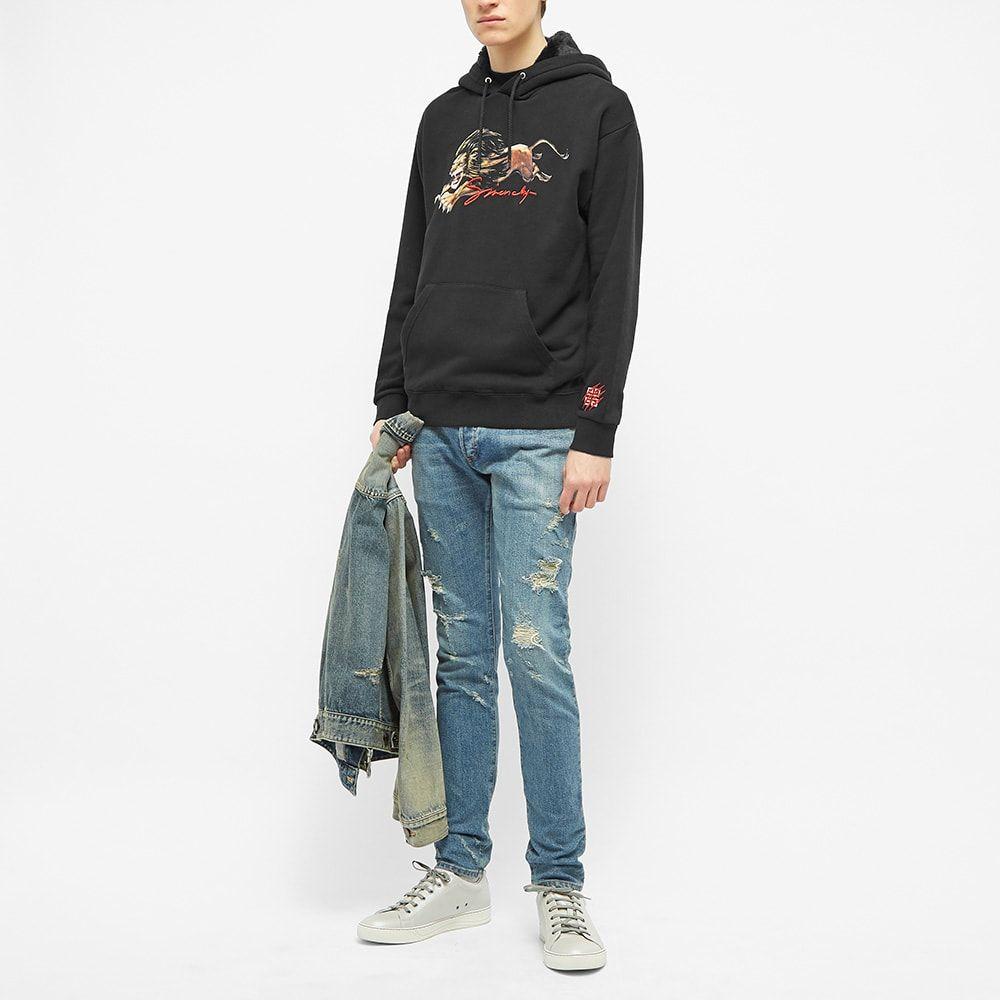 ジバンシー Givenchy メンズ パーカー トップス【Leo Signature Hoody】Black