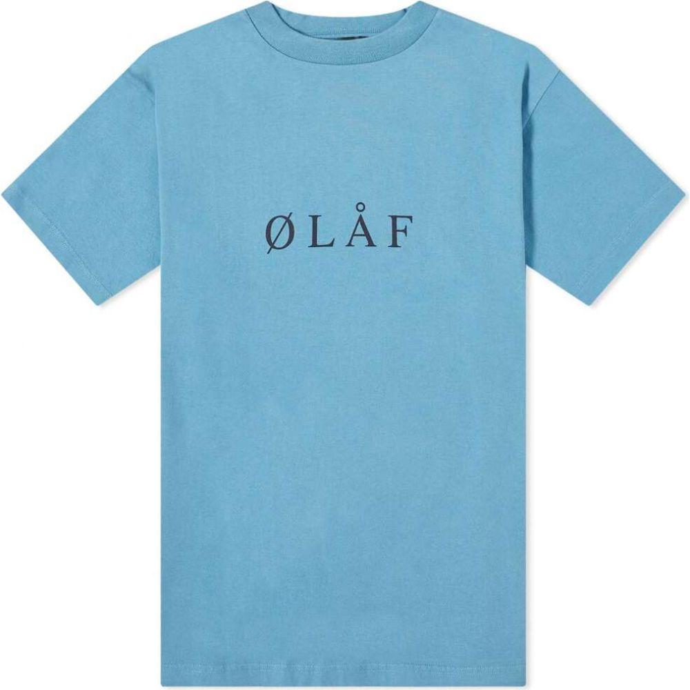 オラフハンセン メンズ 倉庫 トップス Tシャツ Blue Black サイズ交換無料 国内正規総代理店アイテム Olaf Tee Serif Hussein