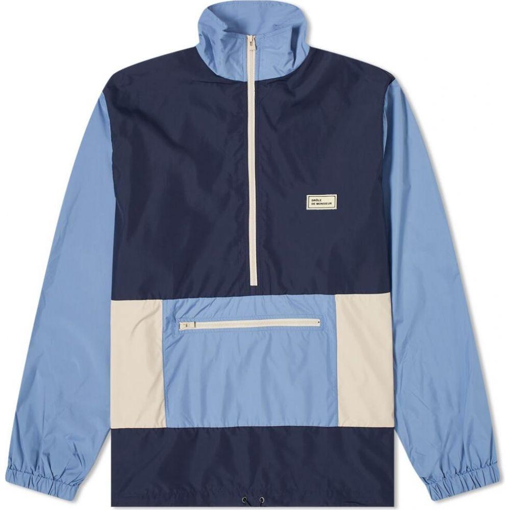 ドロール ド ムッシュ Drole de Monsieur メンズ ジャケット アウター【Nylon Paneled Jacket】Navy