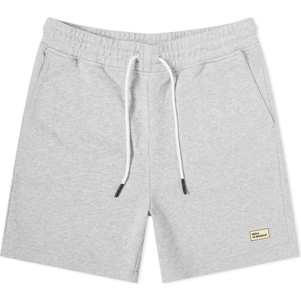 ドロール ド ムッシュ Drole de Monsieur メンズ ショートパンツ ボトムス・パンツ【Fleece Regular Short】Grey