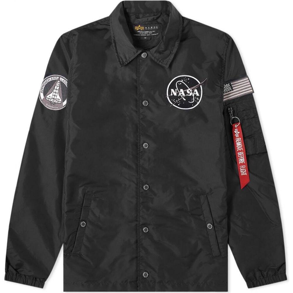 アルファ インダストリーズ Alpha Industries メンズ ジャケット コーチジャケット アウター【NASA Coach Jacket】Black