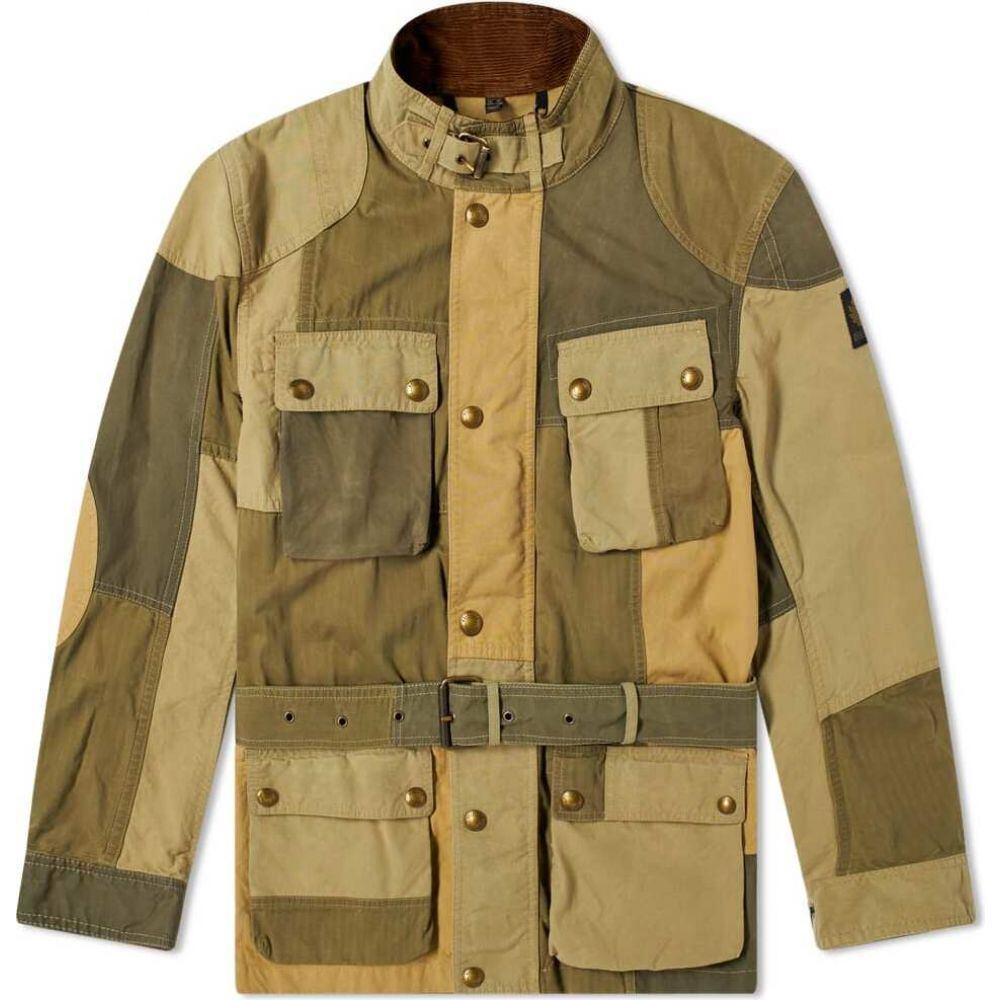 ベルスタッフ Belstaff メンズ ジャケット アウター【Patchwork Trialmaster Jacket】Sage Green