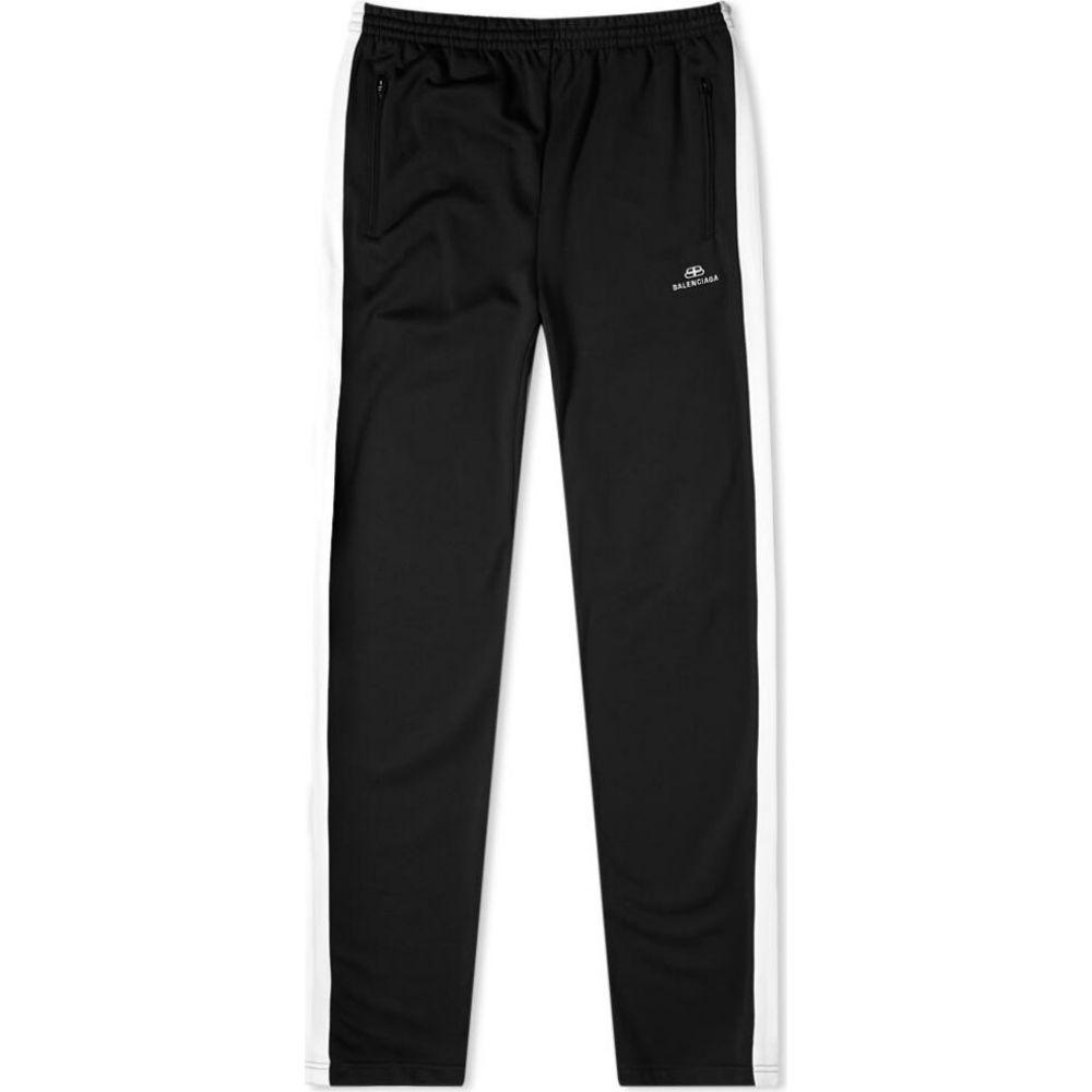 バレンシアガ Balenciaga メンズ スウェット・ジャージ ボトムス・パンツ【Taped Track Pant】Black/White