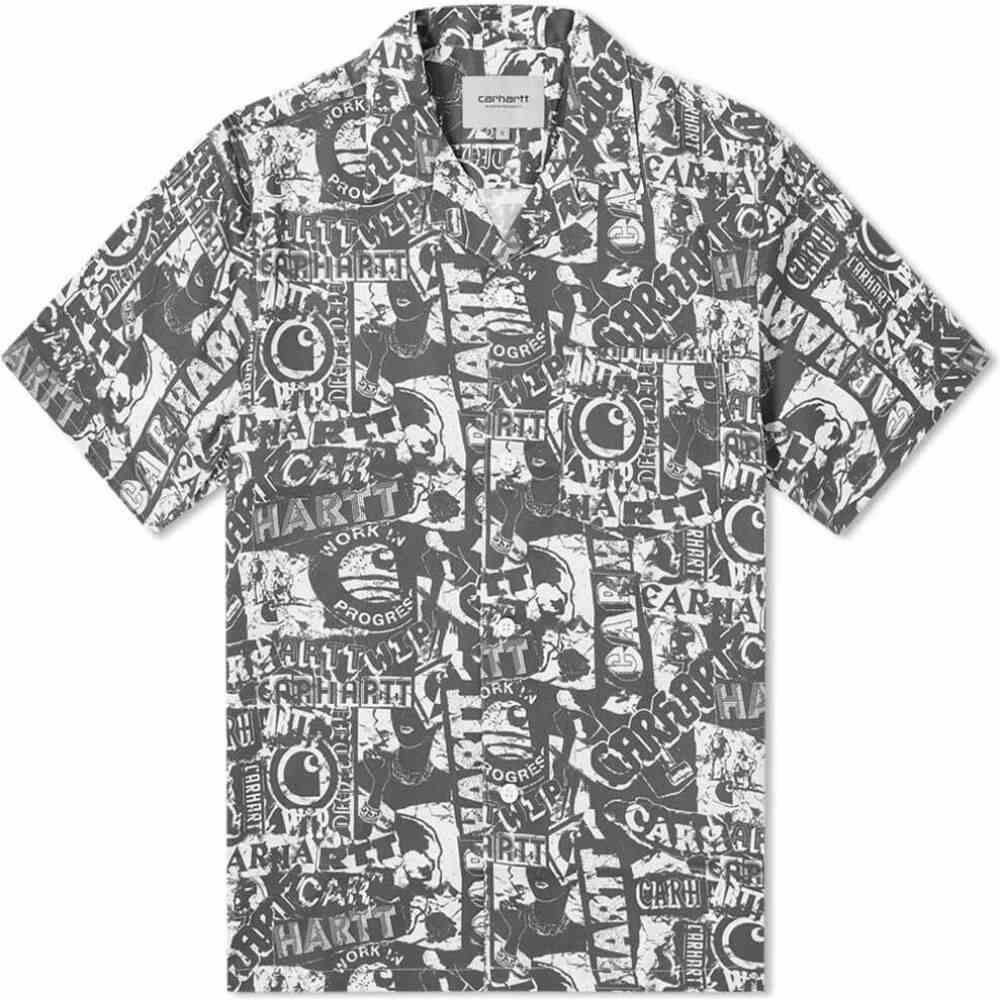カーハート Carhartt WIP メンズ 半袖シャツ トップス【Collage Vacation Shirt】Collage Print/Black/White