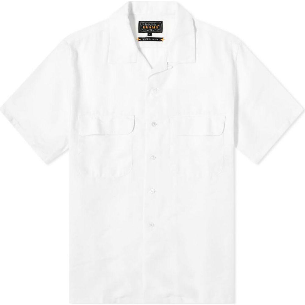 ビームス プラス Beams Plus メンズ 半袖シャツ トップス【Coolmax Linen Vacation Shirt】White