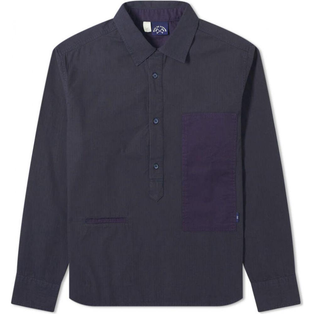 ブルー ドゥ パナム Bleu de Paname メンズ シャツ トップス【Frigate Popover Shirt】Navy