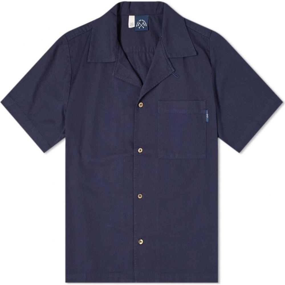 ブルー ドゥ パナム Bleu de Paname メンズ 半袖シャツ トップス【Surf Shirt】Navy