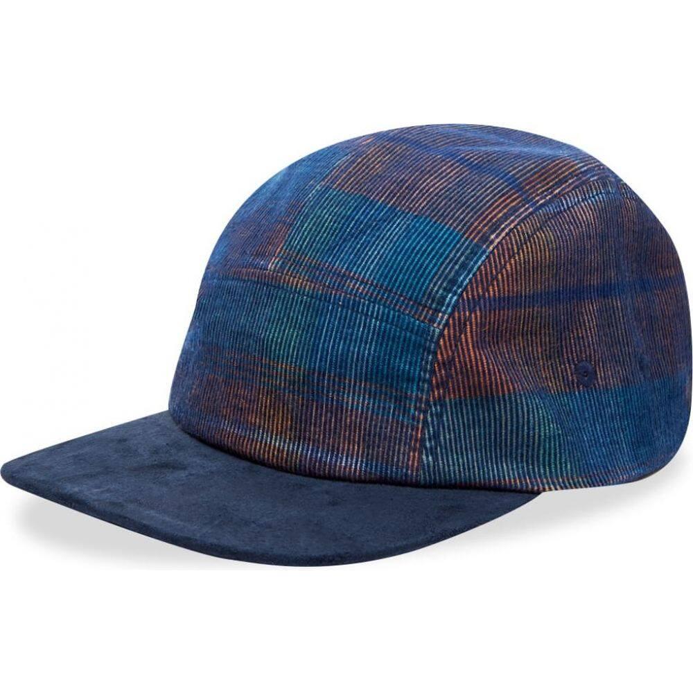 ビームス プラス Beams Plus メンズ キャップ 帽子【5 Panel Summer Corduroy Check Cap】Denim