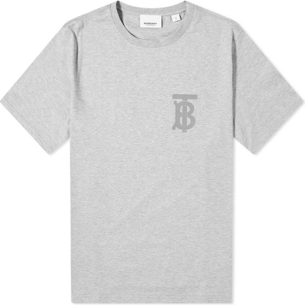 バーバリー Burberry メンズ Tシャツ ロゴTシャツ トップス【Emerson Logo Tee】Pale Grey Melange